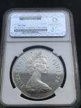 10 долларов 1978 Фиджи  серебро в слабе PF66 Ultra Cameo, фото №3
