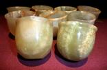 Рюмки - стопки из оникса 9 штук., фото №12