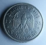 5 марок 1935 А Кирха Гарнизонная церковь в Потсдаме, фото №5