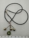 Кулон Подвеска на Шнурке Серебро 925 Нефрит, фото №2