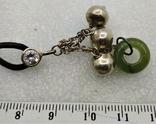 Кулон Подвеска на Шнурке Серебро 925 Нефрит, фото №8
