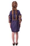 Сукня для дівчинки Яскраві півники (льон синій), фото №3