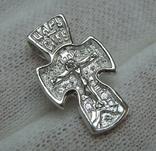 Новый Серебряный Крест Крестик Маленький Детский для Ребенка Покрова 925 проба 446 фото 1