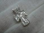 Новый Серебряный Крест Крестик Маленький Детский для Ребенка Покрова 925 проба 446 фото 2