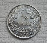 1/2 марки 1917 г. (А) Германия, серебро, фото №4