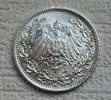 1/2 марки 1917 г. (А) Германия, серебро, фото №9