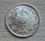 1/2 марки 1917 г. (А) Германия, серебро, фото №10
