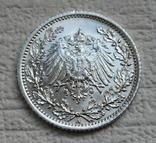 1/2 марки 1917 г. (А) Германия, серебро, фото №11