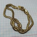 Браслет из двойной гибкой цепочки. Под золото (3), фото №3