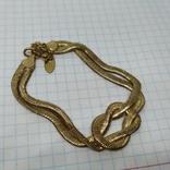 Браслет из двойной гибкой цепочки. Под золото (3), фото №6