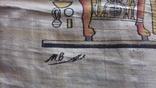 Жанрова сцена на папірусі Єгипет річна робота, фото №3