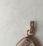 Золотой кулон с янтарем из СССР, фото №7