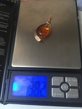 Золотой кулон с янтарем из СССР, фото №8
