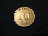 Швеция 10 эре 1918 W, фото №2