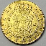 80 реалов. 1845. Изабелла II. Испания (золото 875, вес 6,70 г), фото №3