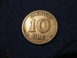 Швеция 10 эре 1917 W, фото №2