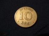 Швеция 10 эре 1916 W, фото №2