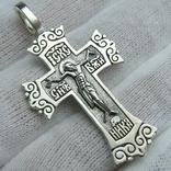 Серебряный Крест Крестик Распятие Покрова Пресвятой Богородицы 925 проба 554