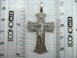 Серебряный Крест Крестик Распятие Покрова Пресвятой Богородицы 925 проба 554, фото №4