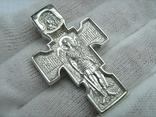 Серебряный Крест Архангел Михаил Распятие Спас Нерукотворный Богородица 925 проба 574, фото №3