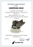 Залізний метеорит Campo del Cielo, 1,5 грам, із сертифікатом автентичності, фото №3