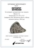 Заготовка-вставка з метеорита Seymchan, 1,6 г, із сертифікатом автентичності, фото №3