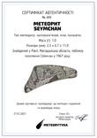 Заготовка-вставка з метеорита Seymchan, 1,0 г, із сертифікатом автентичності, фото №3