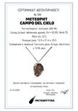 Підвіска із залізного метеорита Campo del Cielo, із сертифікатом автентичності, фото №13