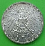 3 марки, Шварцбург-Зондерхаус, 1909 год., фото №7