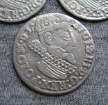 Трояки 1623 года. Сиг. ІІІ Ваза. Разновидности ( 3 штуки )., фото №6