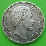 5 марок, 1875 год, Бавария,, фото №2