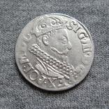 Трояк 1621 года. Сиг. ІІІ Ваза ( в GROS под О ещё одна О )., фото №2