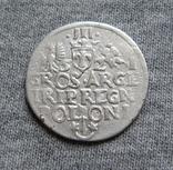 Трояк 1621 года. Сиг. ІІІ Ваза ( в GROS под О ещё одна О )., фото №5