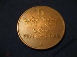 Швеция 5 эре 1934 г, фото №2