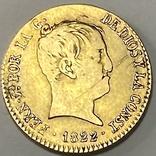80 реалов. 1822. Фердинанд VII. Испания (золото 875, вес 6,64 г), фото №3