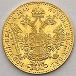 1 дукат. 1915. Франк Иосиф. Австрия (золото 986, вес 3,48 г), фото №4