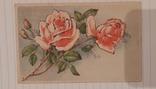 """Открытка """"Розы"""" Германия 1940-х г., фото №3"""