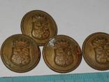 Пуговицы Корона гербы 4 штуки, фото №2