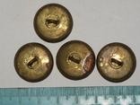 Пуговицы Корона гербы 4 штуки, фото №6