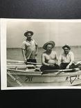 1955 Одесса Лодка Рыбаки Шляпы, фото №4