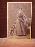 Открытка старинная: Дама., фото №5