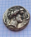 Декадрахма Сиракузы 6в. до н.э. серебро копия, фото №3