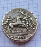 Декадрахма Сиракузы 6в. до н.э. серебро копия, фото №2