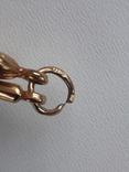Кулон крест и пылающее сердце, золото 0.750, фото №7