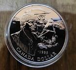 Канада 1 доллар 1995 г. Серебро. Корабль.Компания Гудзонова залива. Пруф, фото №2
