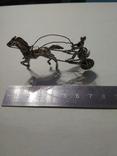 Серебряная колесница жокей, фото №3