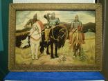 Старая копия картины Васнецова. Три богатыря., фото №2