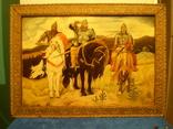 Старая копия картины Васнецова. Три богатыря., фото №3