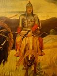 Старая копия картины Васнецова. Три богатыря., фото №9