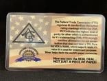 Слиток серебра 999 пробы США USA 5 гран, фото №3